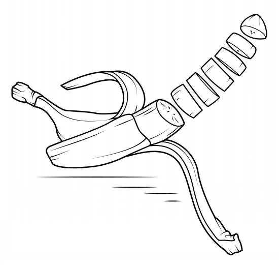 نقاشی جالب موز