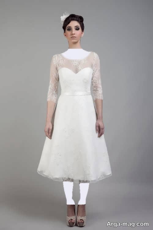 مدل لباس عروس گیپور برای افراد قد کوتاه