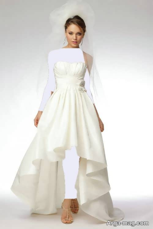 مدل لباس عروس شیک برای افراد قد کوتاه
