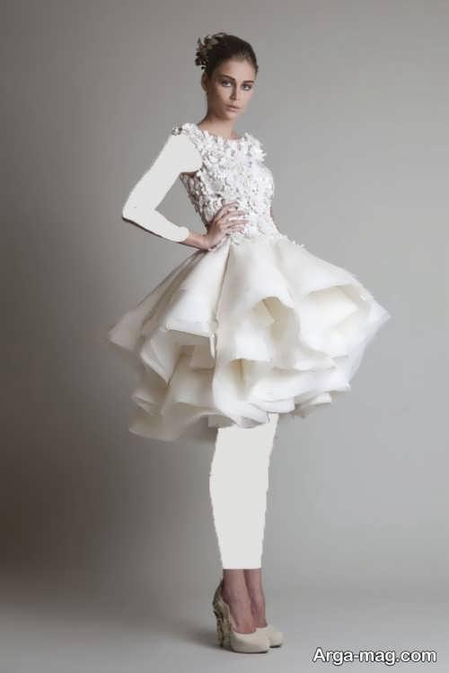 مدل لباس عروس برای افراد کوتاه قد