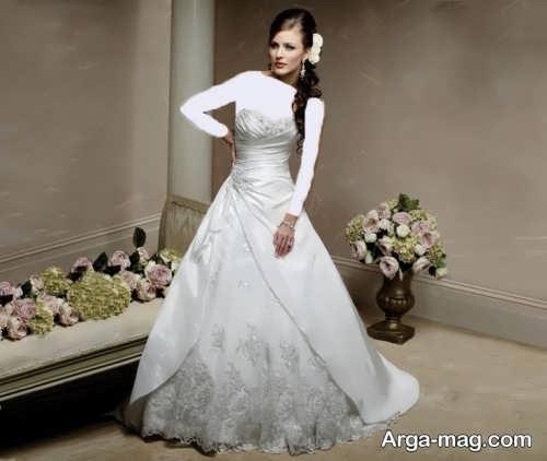 مدل لباس عروس دکلته برای افراد قد کوتاه