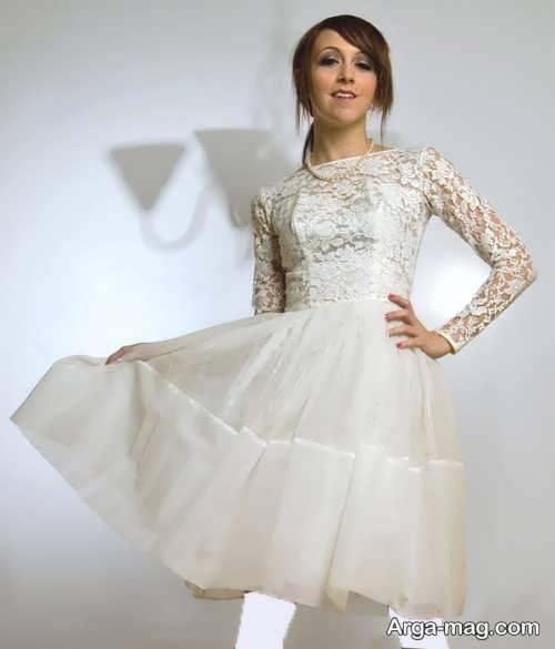 مدل لباس عروس زیبا و گیپور برای افراد قد کوتاه