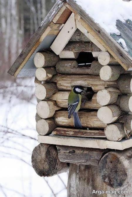 ساخت لانه پرنده با چوب