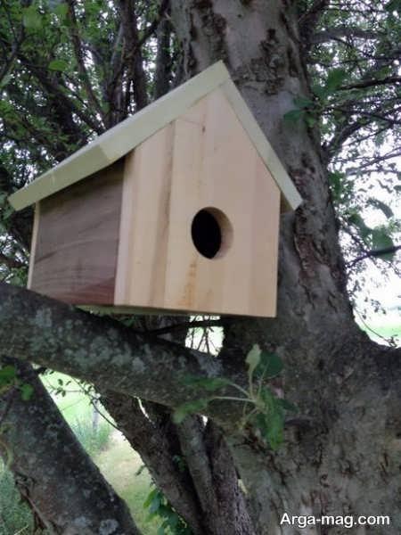 مدل لانه چوبی برای پرنده