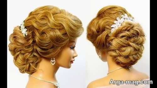 مدل موی کار شده عروس