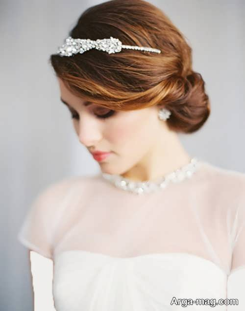 مدل مو ساده و جذاب عروس