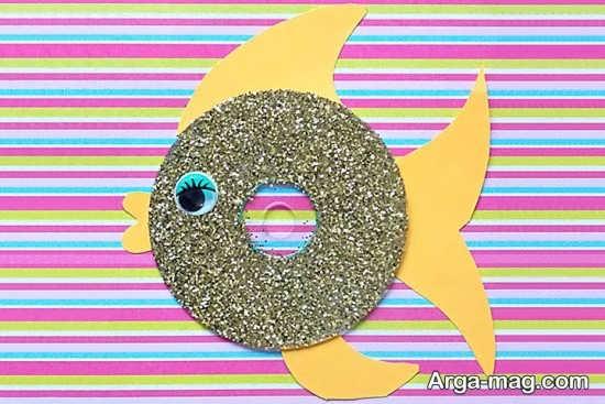 خلاقیت با سی دی به شکل ماهی