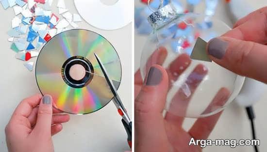ساخت دکور ساده با دیسک