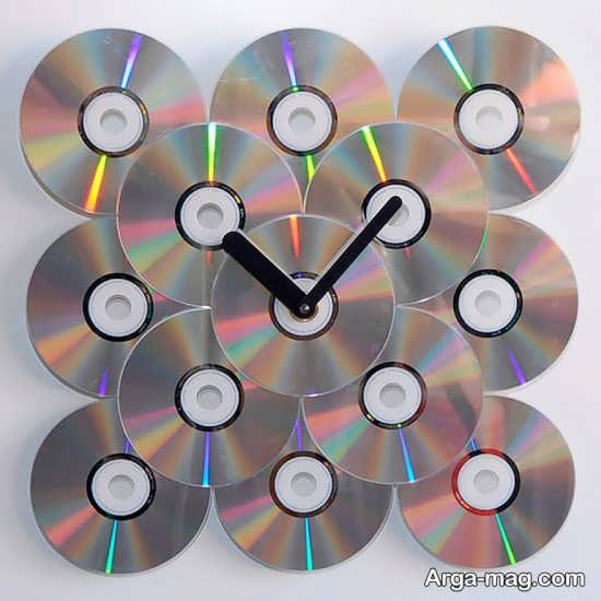 ساخت ساعت دیواری با سی دی های کامل