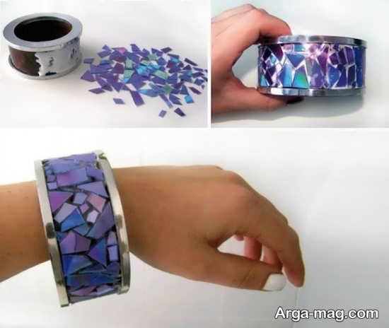 ساخت دست بند با تکه های دیسک