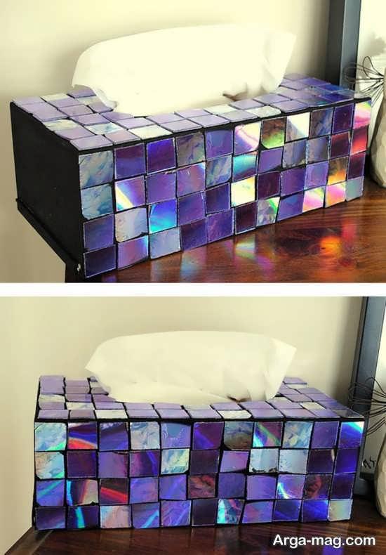 ساخت جعبع فوق العاده با تکه های سی دی
