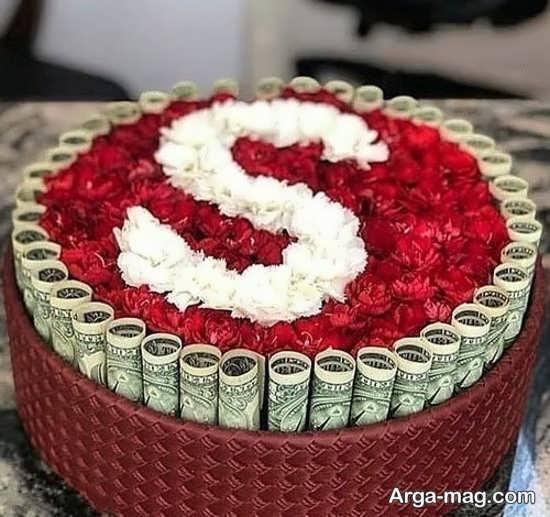 تزیینات پول به شکل دسته گل زیبا