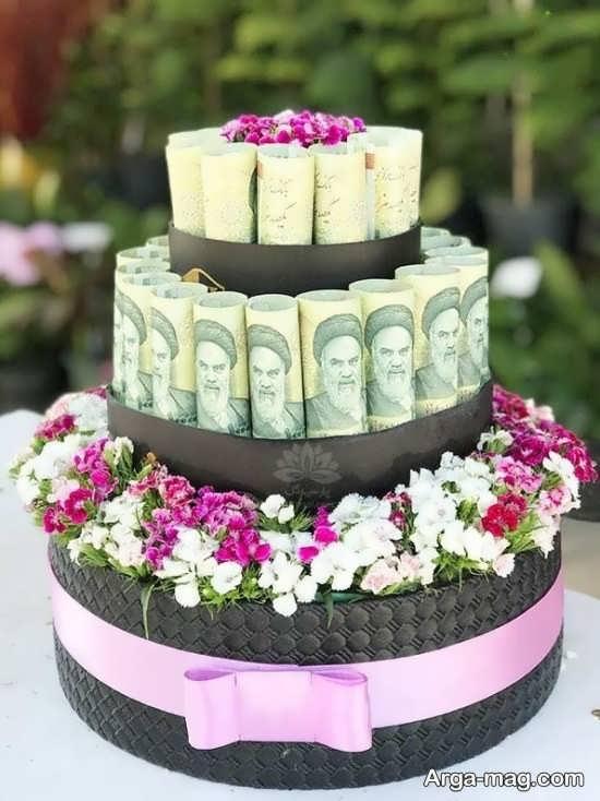 ایده تزیین پول به شکل دسته گل