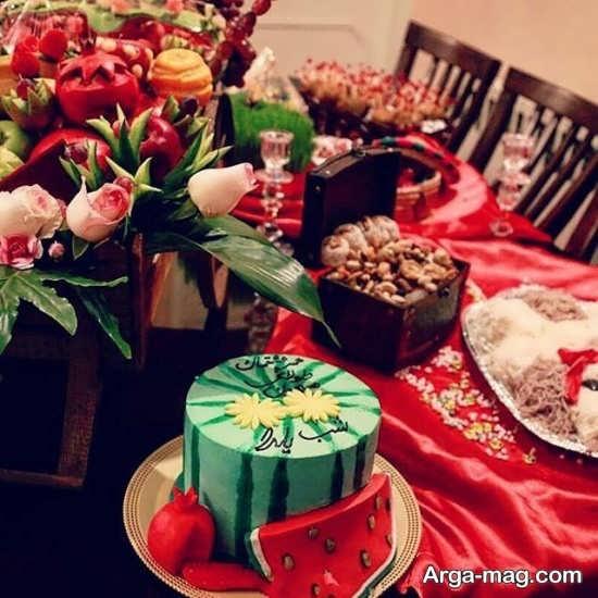 تزیین کیک ویژه شب یلدا