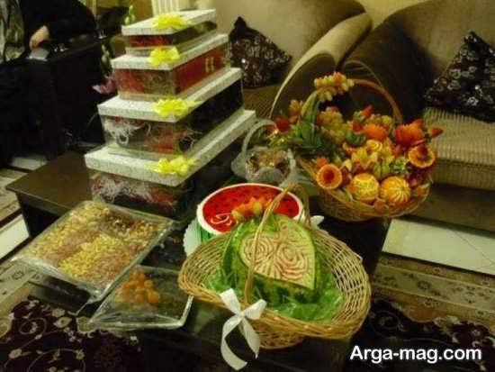تزیین کادو و میوه شب چله