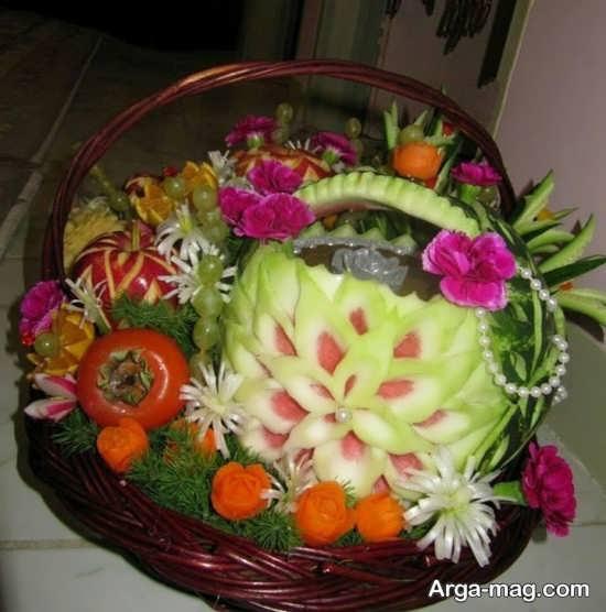 تزیین سبد میوه شب یلدا ویژه نو عروس