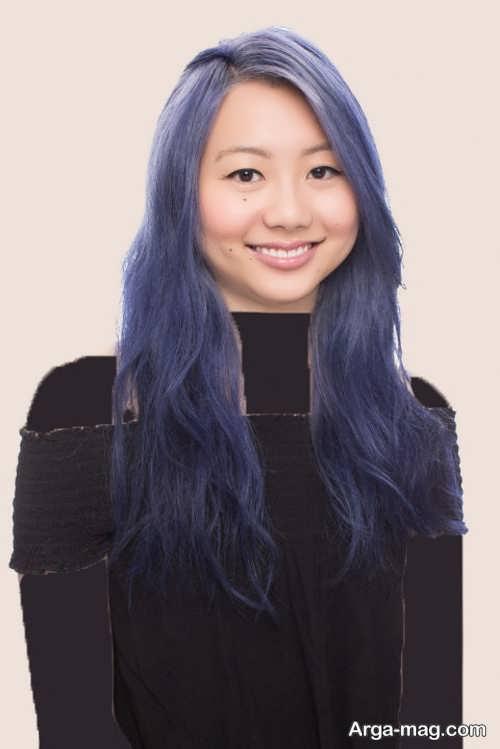 رنگ موی بنفش دودی