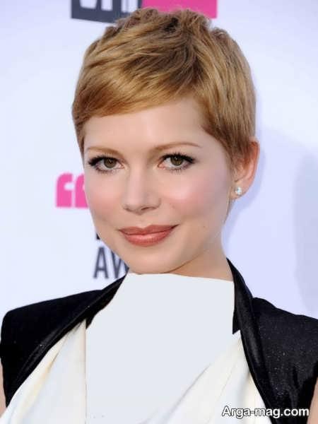 مدل موی کوتاه برای خانم ها با پیشانی کوتاه