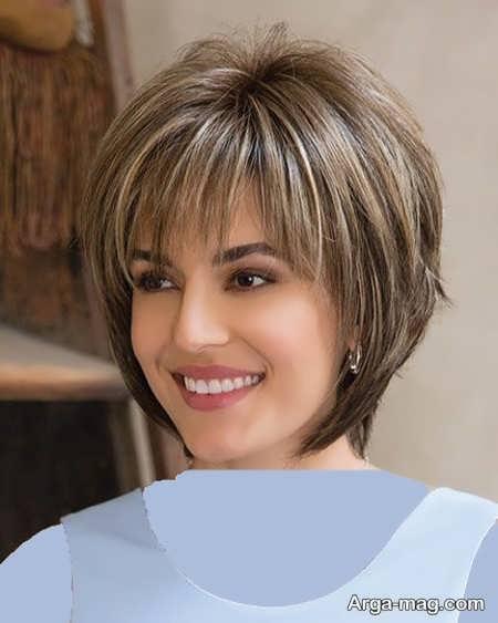 مدل موی کوتاه برای پیشانی کوتاه