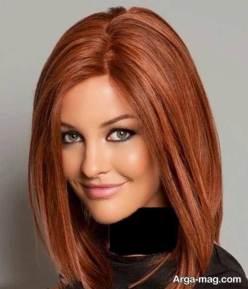 رنگ موی عسلی مسی