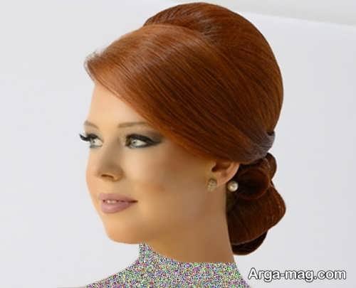 رنگ موی زیبا و جذاب عسلی مسی