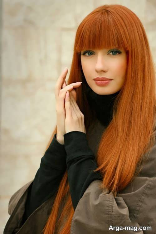 رنگ موی عسلی مسی زیبا