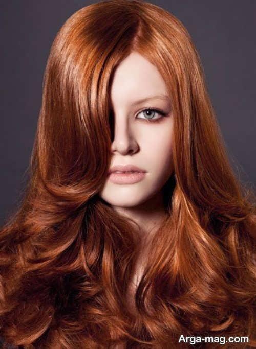 رنگ موی زیبا و خاص عسلی مسی