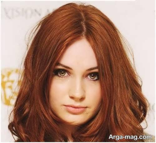 رنگ موی زیبا عسلی مسی