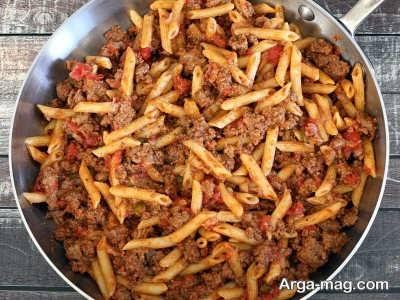 طرز تهیه پاستا با گوشت چرخ کرده