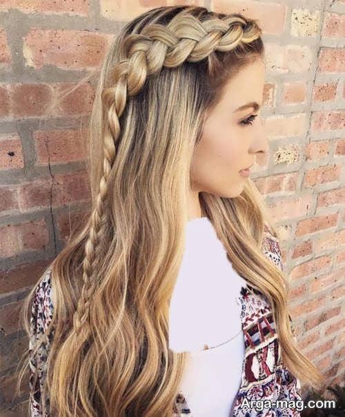 مدل بافت موی زیبا و بلند