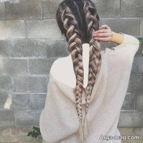 مدل بافت مو ساده و زیبا