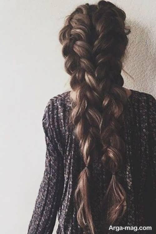 بافت موی شیک و ساده