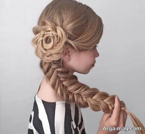 بافت موی بلند برای دختربچه