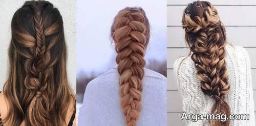 بافتهای زیبا از موی بلند