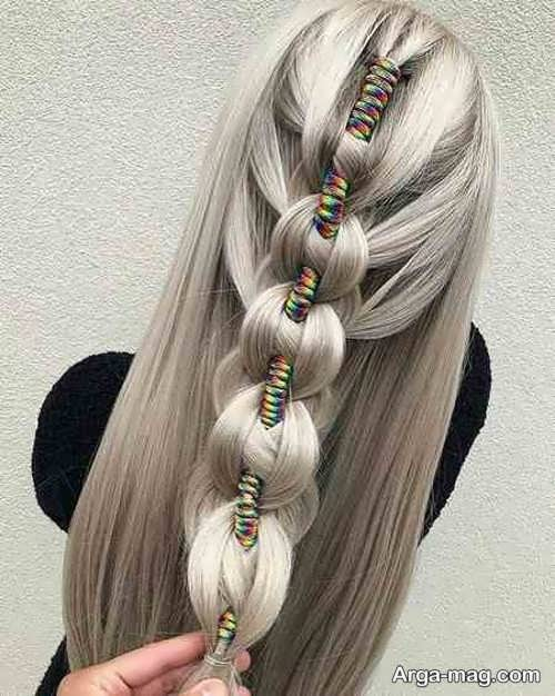 بافتی جذاب از موی بلند