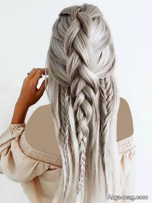 زیباترین بافت موی بلند