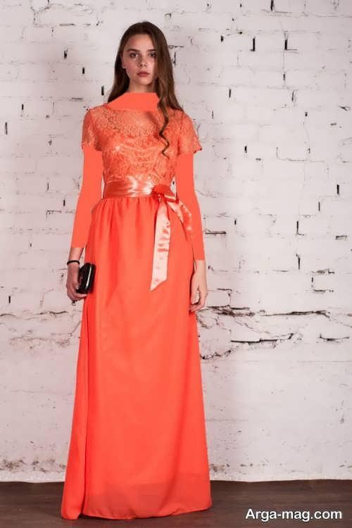 مدل ماکسی گیپور نارنجی