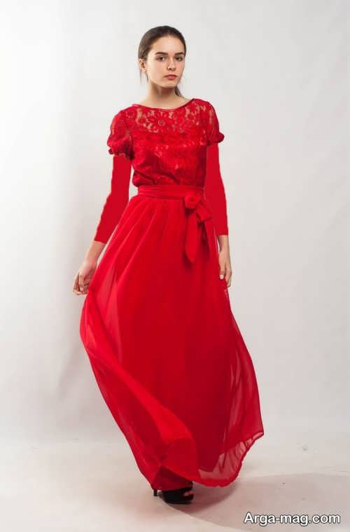 مدل ماکسی گیپور قرمز