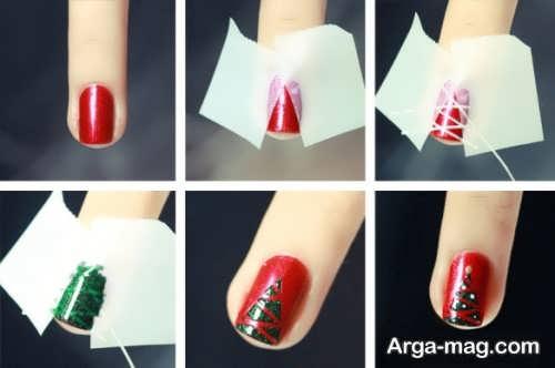 طراحی ناخن با کمک نوار چسب