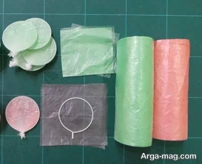 آموزش ساخت گل با پلاستیک های رنگی
