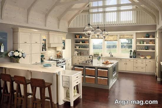 طراحی آشپزخانه و کابینت با دیزاین عالی به سبک رومی