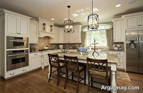 طراحی آشپزخانه و کابینت با دیزاین رومی