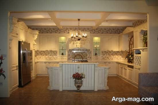 طرح آشپزخانه و کابینت رومی
