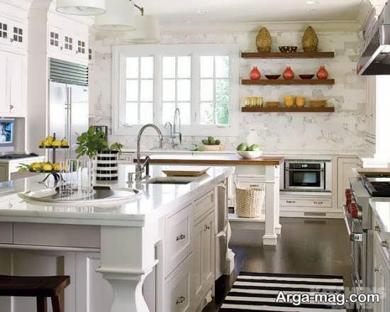 چیدمان آشپزخانه به سبک رومی و لاکچری