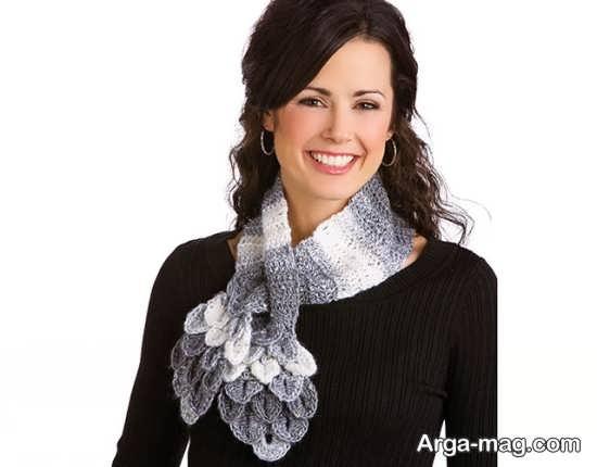 مدل شال گردن زنانه قلاب بافی