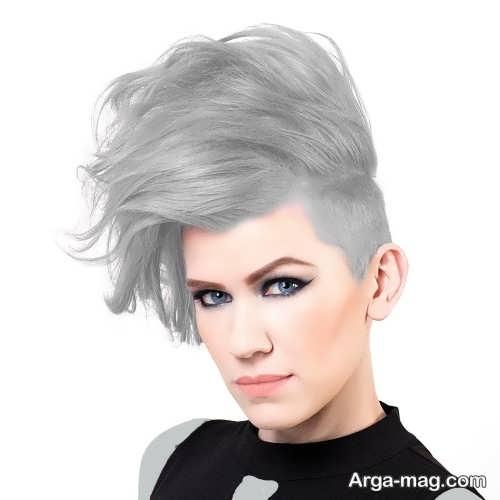 رنگ مو جدید نقره ای