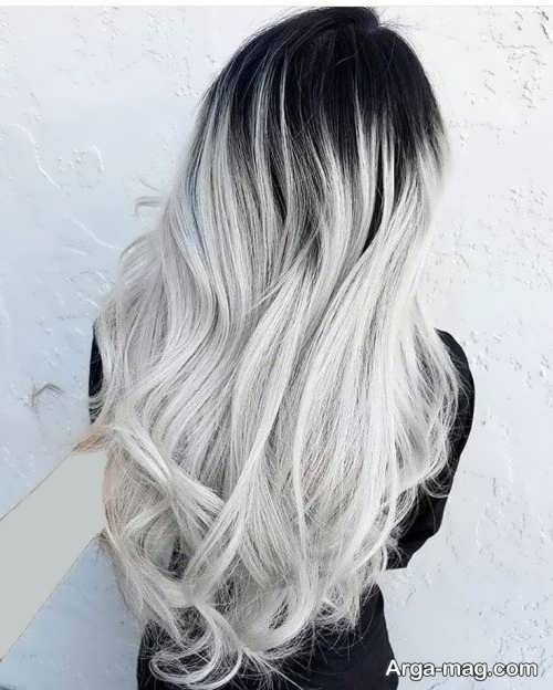 رنگ موی زیبا نقره ای