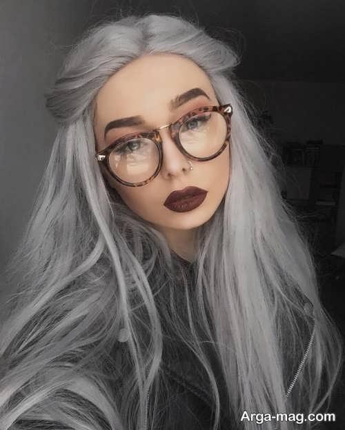 رنگ مو نقره ای دخترانه