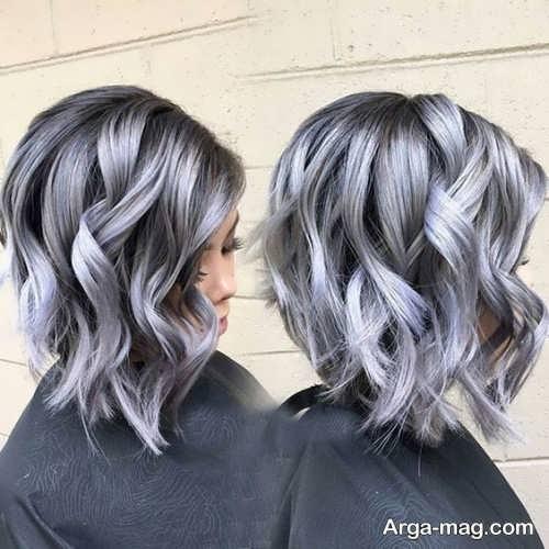 رنگ موی جدید و زیبا نقره ای