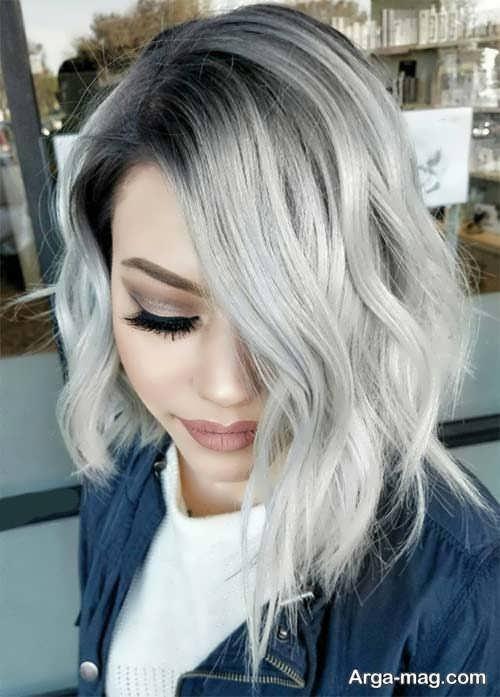 انواع فرمولی ترکیبی رنگ موی نقره ای و تصاویر آن